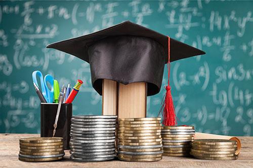 Grad cap and money